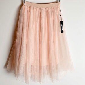 NWT Haute Monde Pink TULLE Skirt